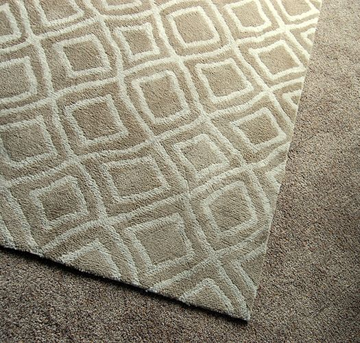 Beige carpet with modern pattern