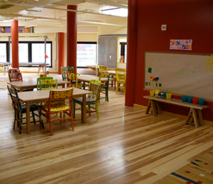 Education Hardwood Floor